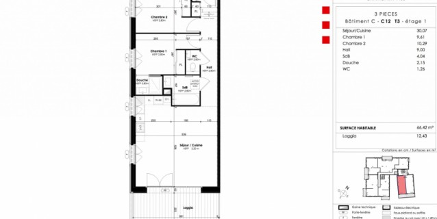 WHITE PEARL C12 / T3 66 m2